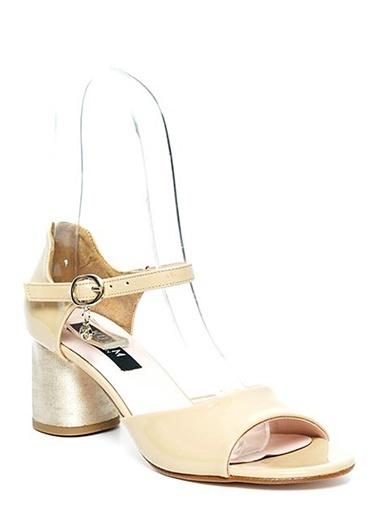 Kuum Kalın Topuklu Ayakkabı Bej